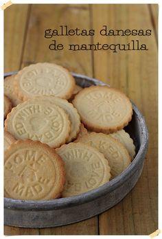 Galletas danesas de mantequilla {by Paula, Con las Zarpas en la Masa}