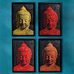 Buddha Silkscreen Print Set - Gaiam <p>From Au Lac Designs in Vietnam, a fair trade group</p>