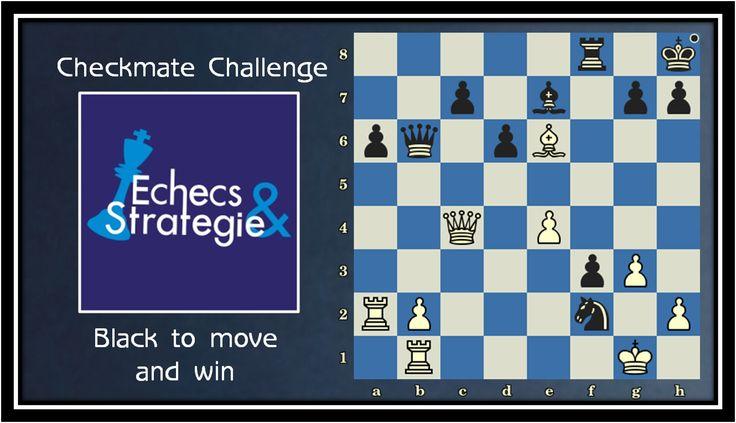Daily chess improvement. Black Mates in 3. Stepanek vs Treybal, Prague, 1936 #echecs #chess #ajedrez #xadrez www.jouer-aux-echecs.com