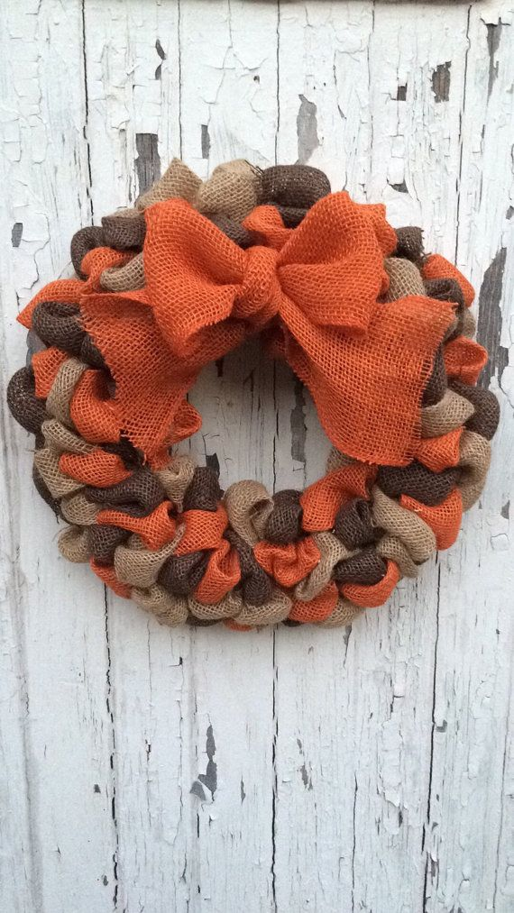 FALL Burlap Bubble Wreath Burlap Bubble by FromTheCoast2TheCity