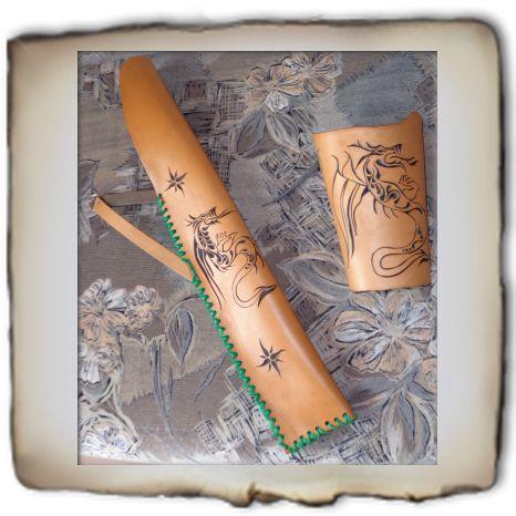 íjász szett –  carved leather archer set,