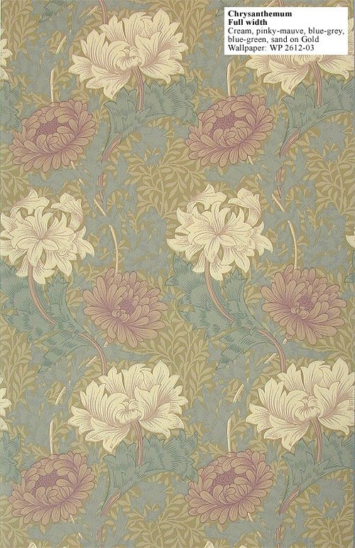 Wallpaper, Chrysanthemum, William Morris, 1877