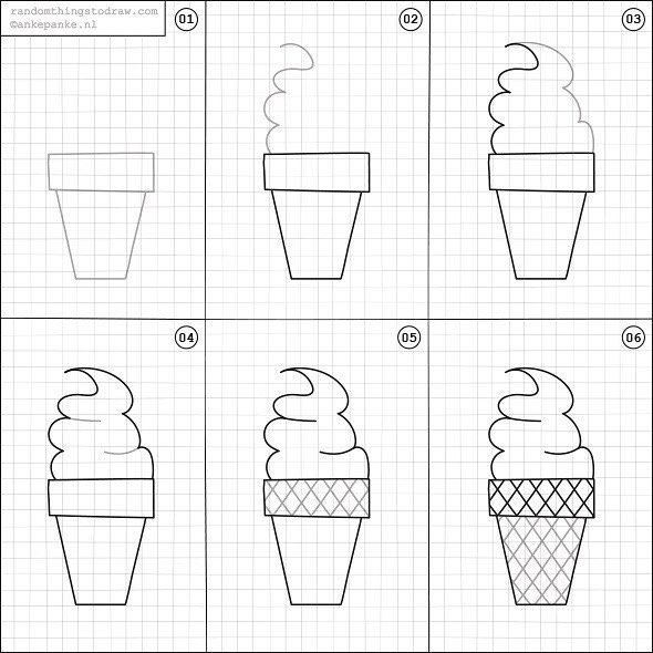 How to draw an ice cream.