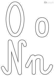 szablon liter N n O o