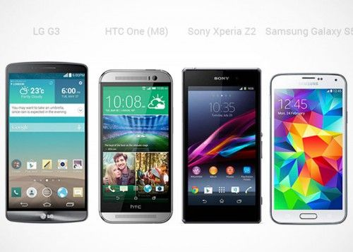 Samsung Galaxy S5 vs LG G3 vs Sony Xperia Z2 vs HTC One M8: Specs and Aesthetic Comparison