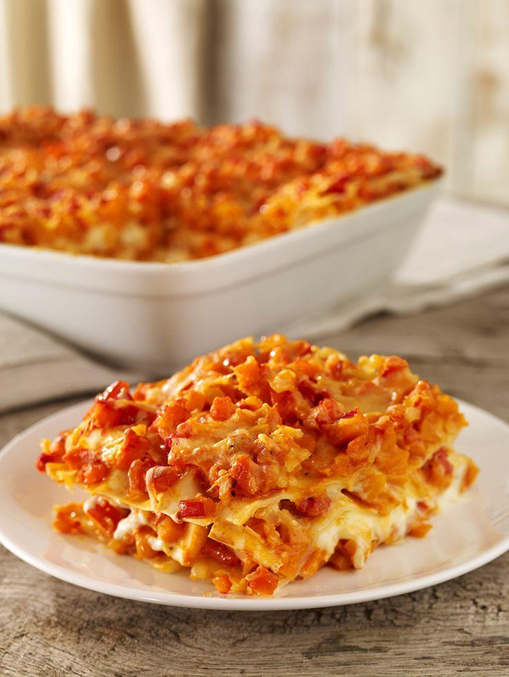 Kürbis-Tomaten-Lasagne