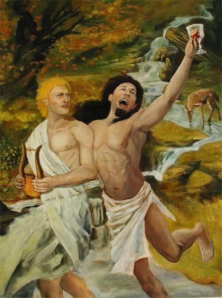 apollo_e_dionisio. Apolo representante do principio da realidade é a consciência de Dionísio como excesso e desmesura passa a ser medido