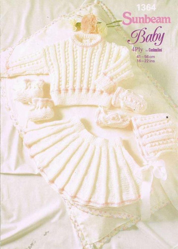 PDF Digital Vintage Knitting Pattern Sunbeam Baby Skirt and Sweater ...