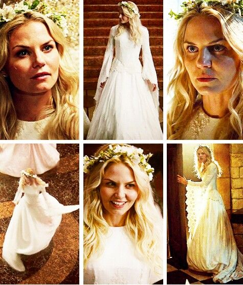 Once Upon a Time Wedding Theme-- Wedding Dress inspired by Emma Swan's dress in S05, E02 (The Price)