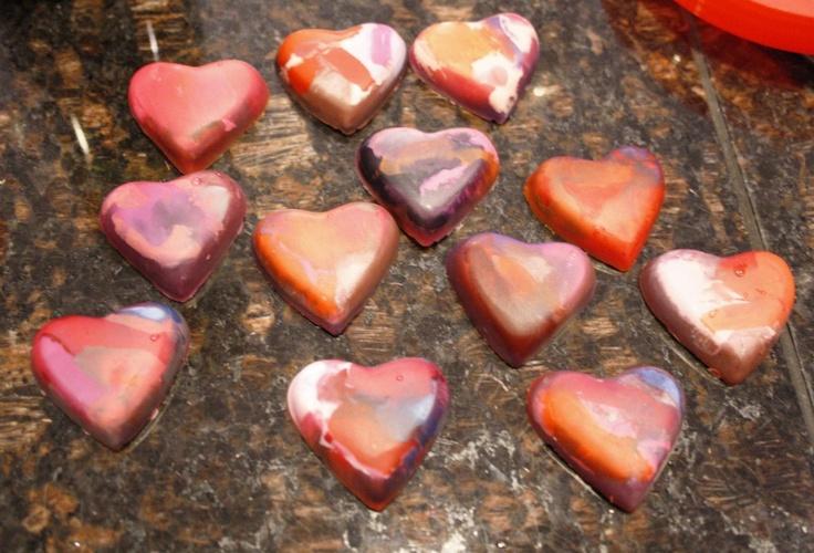 Heart CrayonsCrafts Ideas, Heart Crayons, Crafts Diy, Diy Projects