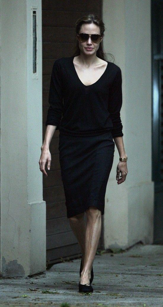 Angelina Jolie #sunglasses #black