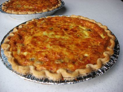 The best quiche ever. Customize to your liking. We love ham and mushroom. Easy to freeze! #quicherecipe #quiche #bestquiche