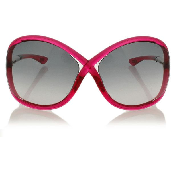 tom ford WHITNEY Sunglasses with Faded Lenses ($160) ❤ liked on Polyvore featuring accessories, eyewear, sunglasses, pink, pink glasses, pink sunglasses, pink lens sunglasses, tom ford and tom ford eyewear