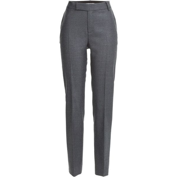 Marc by Marc Jacobs Sparkle Wool Pants (9.740 RUB) ❤ liked on Polyvore featuring pants, bottoms, trousers, pantaloni, jeans, grey, gray wool pants, sparkly pants, zipper pants and slim pants