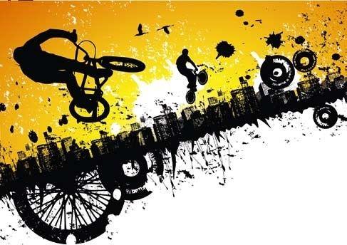 A.S. Creation XXL Wallpaper 0350-0 BMX Riders