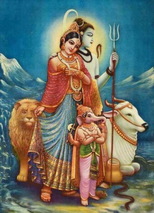 hindudevotion: Lord Shiva, Parvati Ji, and Ganesh Ji.