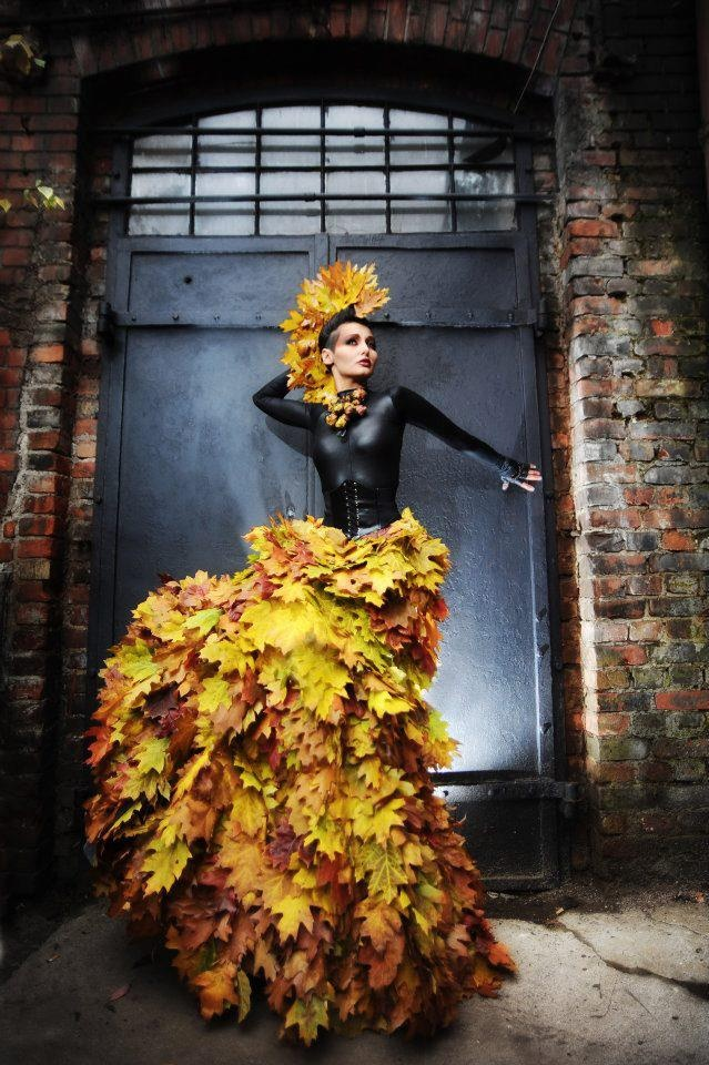 Leaf dress and mohawk = Love it!!  Monika Dłużyk-Marciniak photography