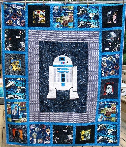 I made a Star Wars quilt. This first one is for my parents, and there will be two more (one for me and one for my BIL).