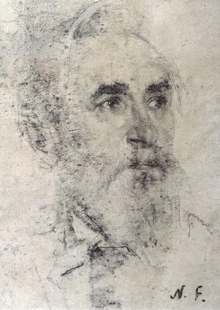 Nicolai Fechin charcoal portrait.