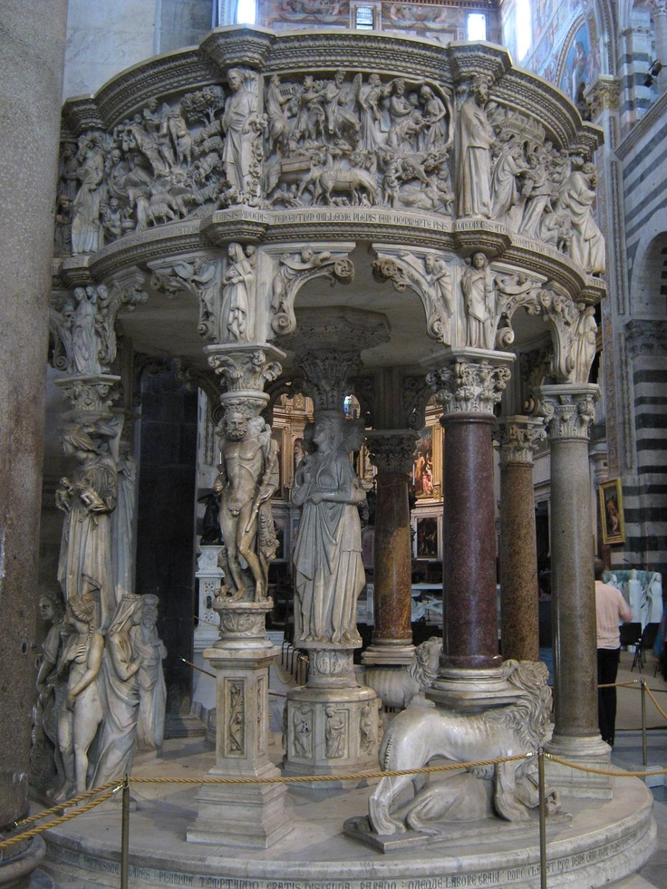 Pulpit of Pisa. Nicola Pisano. 1259-1260