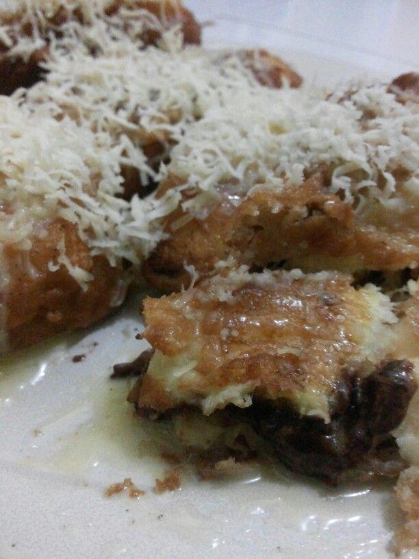 Choco Cheesy Fried Banana