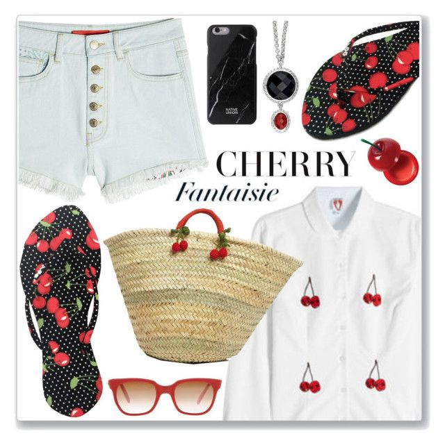 CHOSECHIC by mada-malureanu on Polyvore featuring polyvore fashion style Shrimps Native Union Sheriff&Cherry Charlotte Russe clothing fruits FlipFlops cherry chosechic