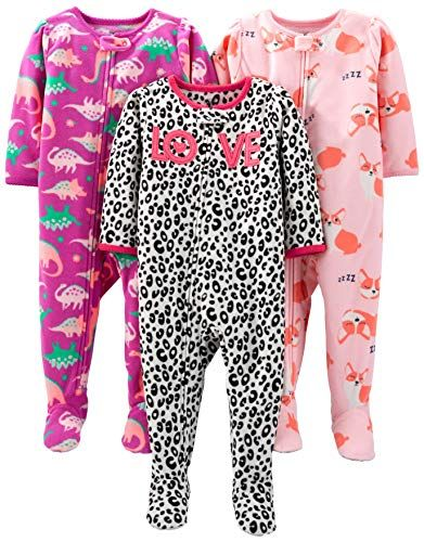 0641ea832ee3 Simple Joys by Carter s Girls  Toddler 3-Pack Loose Fit Flame ...