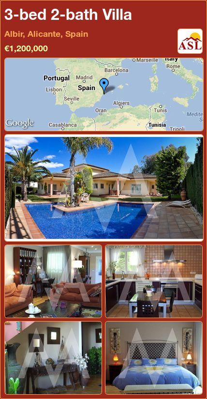 3-bed 2-bath Villa in Albir, Alicante, Spain ►€1,200,000 #PropertyForSaleInSpain