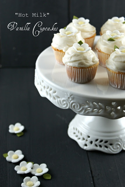 """Hot Milk"" Vanilla Cupcakes"
