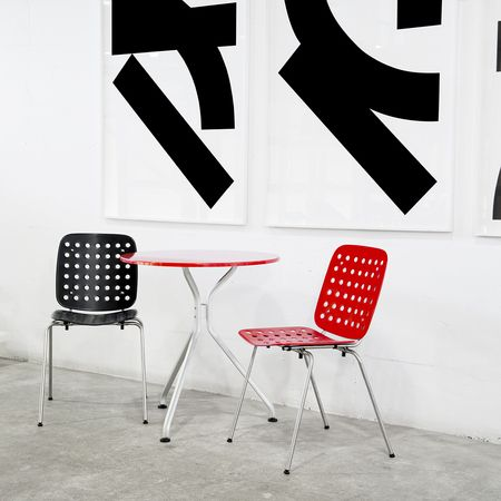 Reds and Black – Coray Stool by Seledue