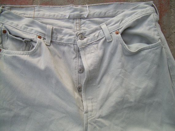 LEVIS  501 jeans destroyed pants by csclothes on Etsy