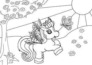 Ausmalbilder Filly Pferde 2