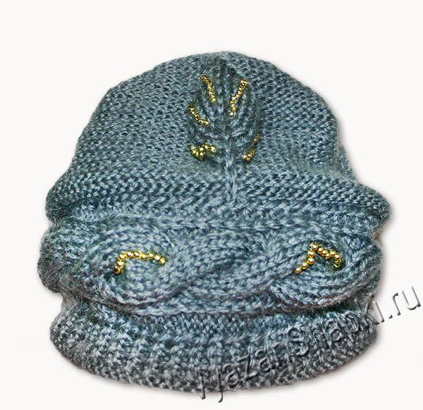 Красивая шапочка с косой, спицами. Обсуждение на LiveInternet - Российский Сервис Онлайн-Дневников