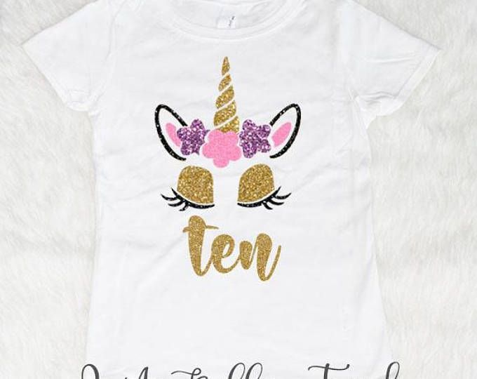 Double Digits Birthday Shirt 10th Birthday 10 Year Old Etsy Birthday Girl Shirt Little Girl Fashion Birthday Shirts