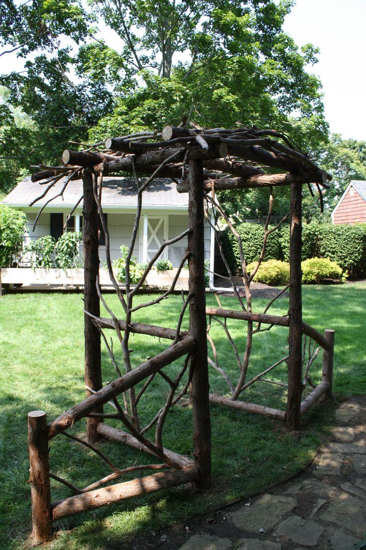 Adk Garden Arbor Www Adkfenceandrail Com Rustic Arbor