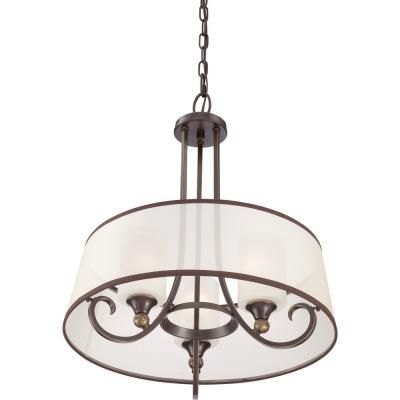 Quoizel Lighting PLR2820PN Palmer - Three Light Pendant