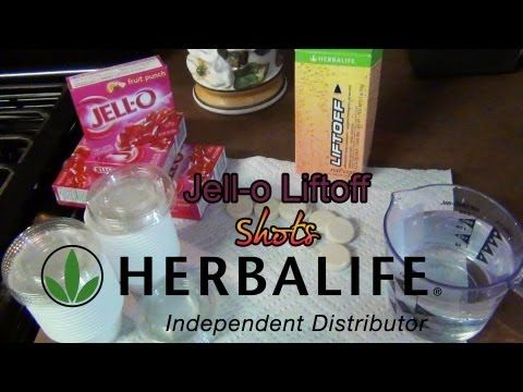 ▶ How to Make Jello Liftoff Shots (Herbalife)-Lots of Energy! - YouTube