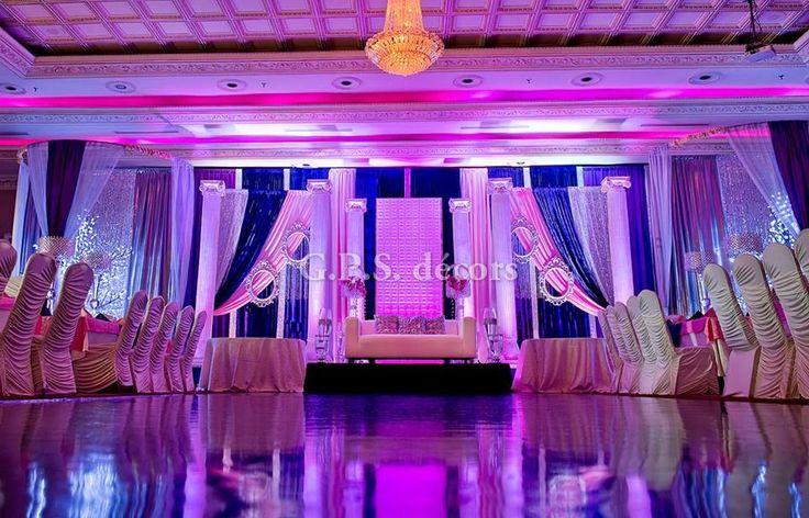 Pink Royal Blue Setup Roman Pillars Led Trees Mirror Frames Crystals Shades Wedding Weddingdecorators Weddingdecorto