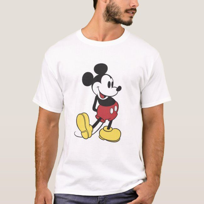 Classic Mickey Mouse T Shirt Zazzle Com In 2020 Mickey Mouse T Shirt Classic Mickey Mouse Mickey Mouse Shirts