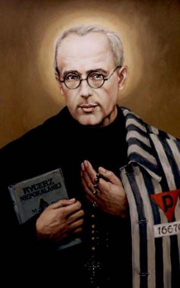 0814-kolbe.jpg (360×574) In 1941, St. Maximilian was arrested and placed in a Nazi death camp. Shortly after, he died at Auschwitz, from a lethal injection, when he bartered his own life for a man's who had a family. St. Maximilian is the patron saint of journalists, families, and the chemically addicted.