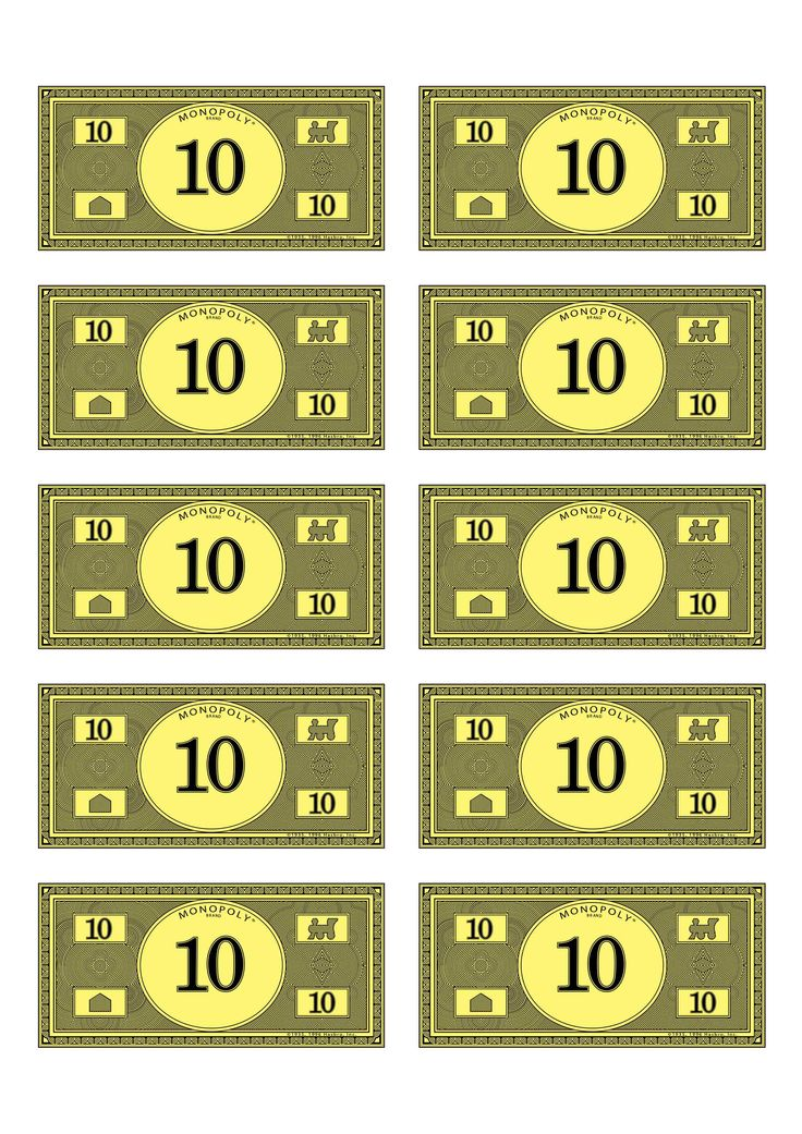 monopoly money 10 | Budget$ | Pinterest