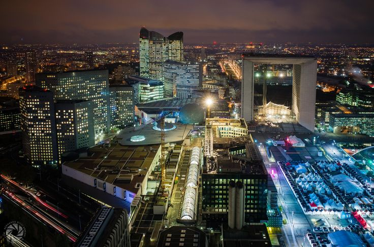 Catching the Last Minute of Daylight (from the EDF Tower at La Defense)