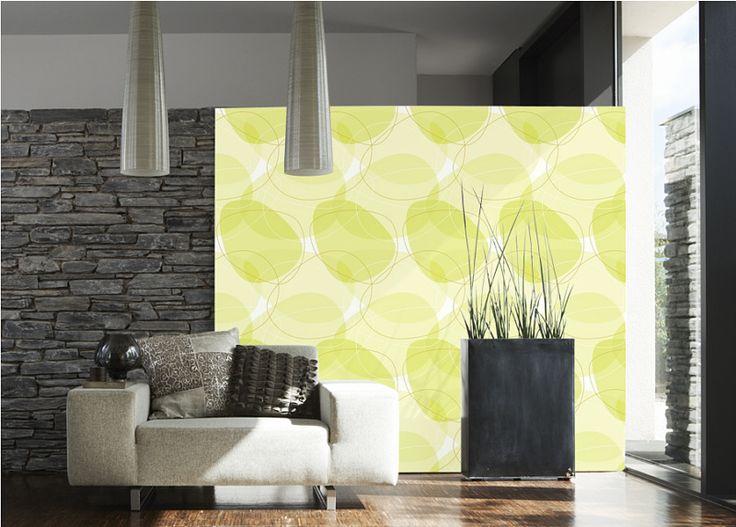 Raumbild Beispiel Vlies-tapete As Creation Tapeten Living Walls ... Wohnzimmer Grun Beige