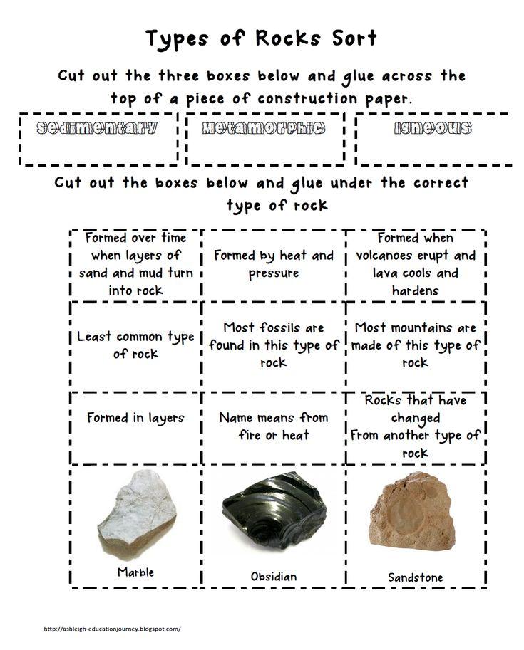 types of rock sort