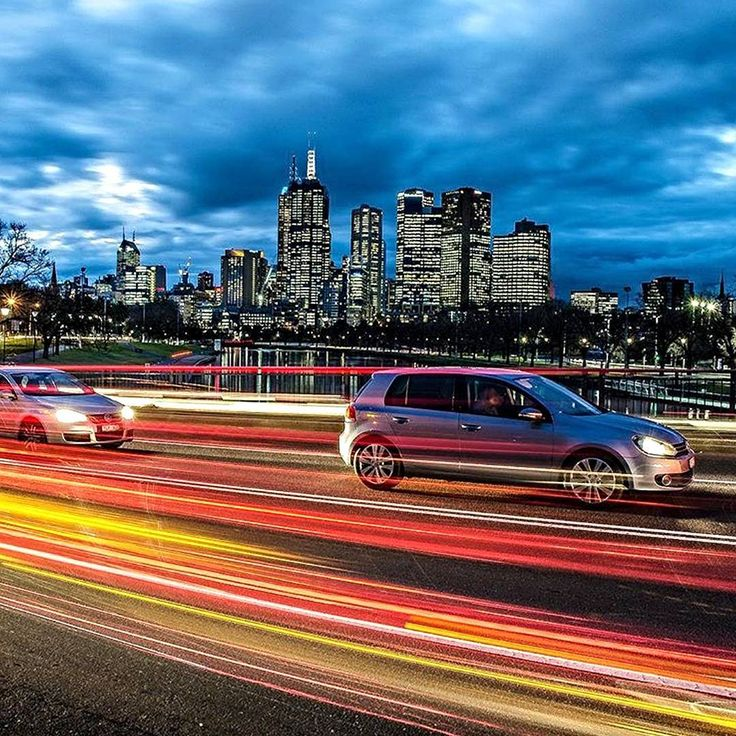 Don't let the wonders of this city pass you by! #Melbourne #night #car #light #sky