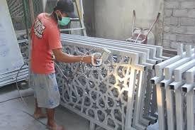 Ornamen Cor Aluminium Pagar Masjid