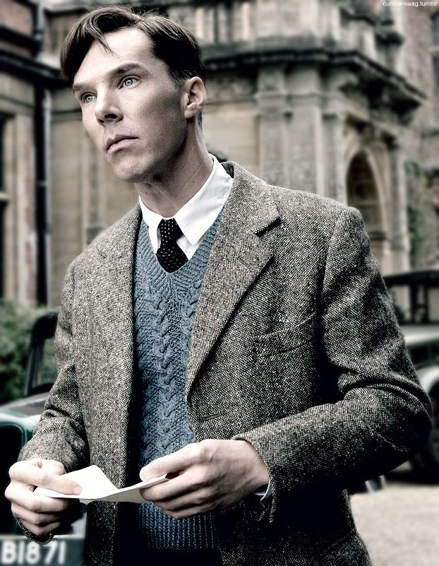 Benedict Cumberbatch, The Imitation Game. This movie is so moving and beautiful! Yet, it was really tragic and sad to see how Alan Turing was treated. I was shocked to have never have heard about him before this movie. Why aren't they teaching us about him? Alan Turing was brilliant