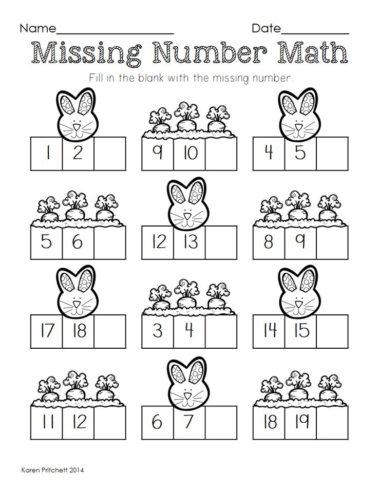 Printables Missing Number Worksheets 1-20 1000 ideas about number 12 on pinterest kindergarten age i think youll love this morning work math packet just in time for easter worksheets to address counting missing numbers