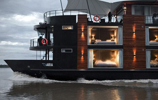 M/V Aria, sails on the Amazon in Peru.