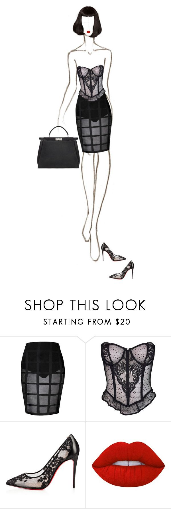 """Government Hooker"" by luxuryfashion5 ❤ liked on Polyvore featuring Christian Dior, Christian Louboutin and Lime Crime"